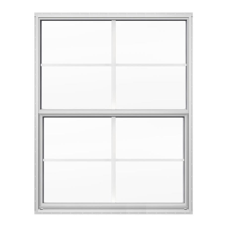JELD-WEN Builders Florida Aluminum Double Pane Double Strength New Construction Single Hung Window (Rough Opening: 24-in x 36-in; Actual: 23.5-in x 35.5-in)