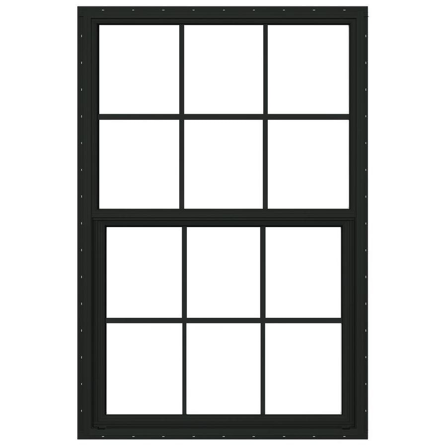 JELD-WEN Builders Florida Aluminum Double Pane Double Strength New Construction Single Hung Window (Rough Opening: 36-in x 48-in; Actual: 35.5-in x 47.5-in)