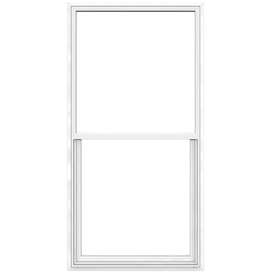 JELD-WEN Builders Vinyl Double Pane Double Strength New Construction Egress Single Hung Window (Rough Opening: 36-in x 72-in; Actual: 35.5-in x 71.5-in)
