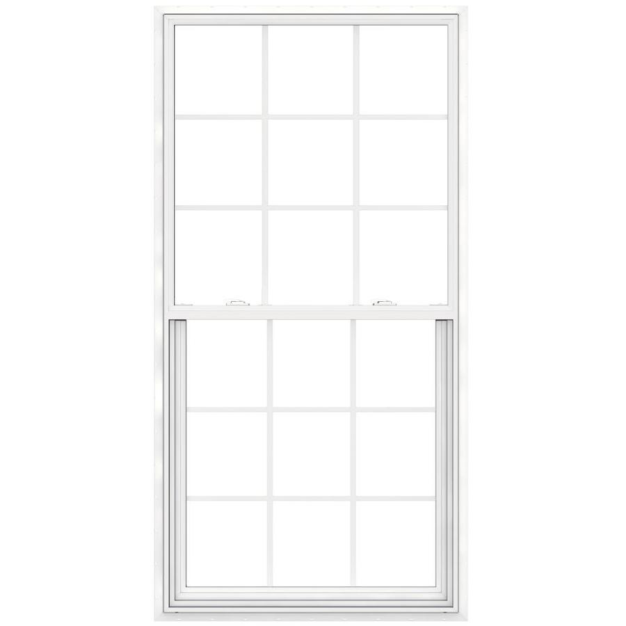 JELD-WEN Builders Vinyl Vinyl Double Pane Double Strength Egress Single Hung Window (Rough Opening: 36-in x 72-in; Actual: 35.5-in x 71.5-in)
