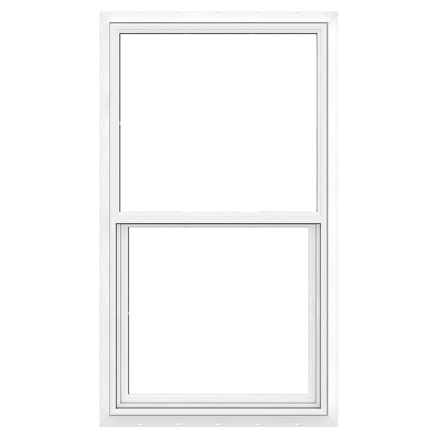 JELD-WEN Premium Atlantic Vinyl Vinyl Double Pane Impact Egress Single Hung Window (Rough Opening: 36.25-in x 62.25-in; Actual: 35.75-in x 61.75-in)