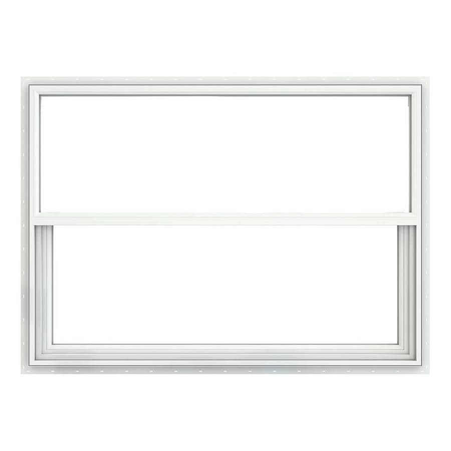 JELD-WEN Premium Atlantic Vinyl Vinyl Double Pane Impact Single Hung Window (Rough Opening: 52.375-in x 37.625-in; Actual: 51.875-in x 37.125-in)