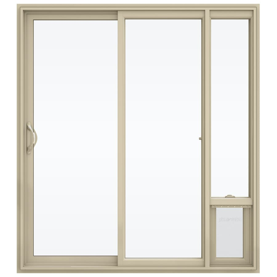 Jeld Wen Clear Glass Almond Vinyl Left Hand Sliding Double