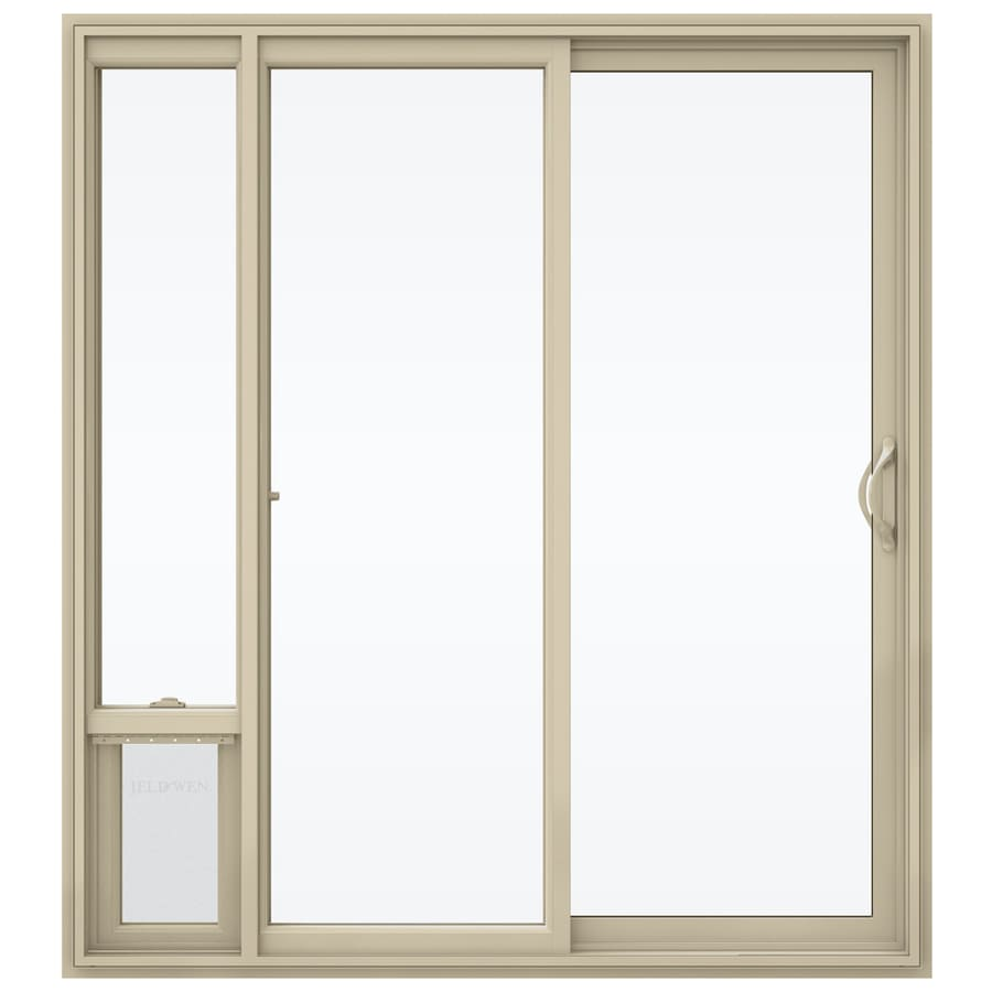 Shop Jeld Wen 715 In X 795 In Clear Glass Right Hand Almond Vinyl