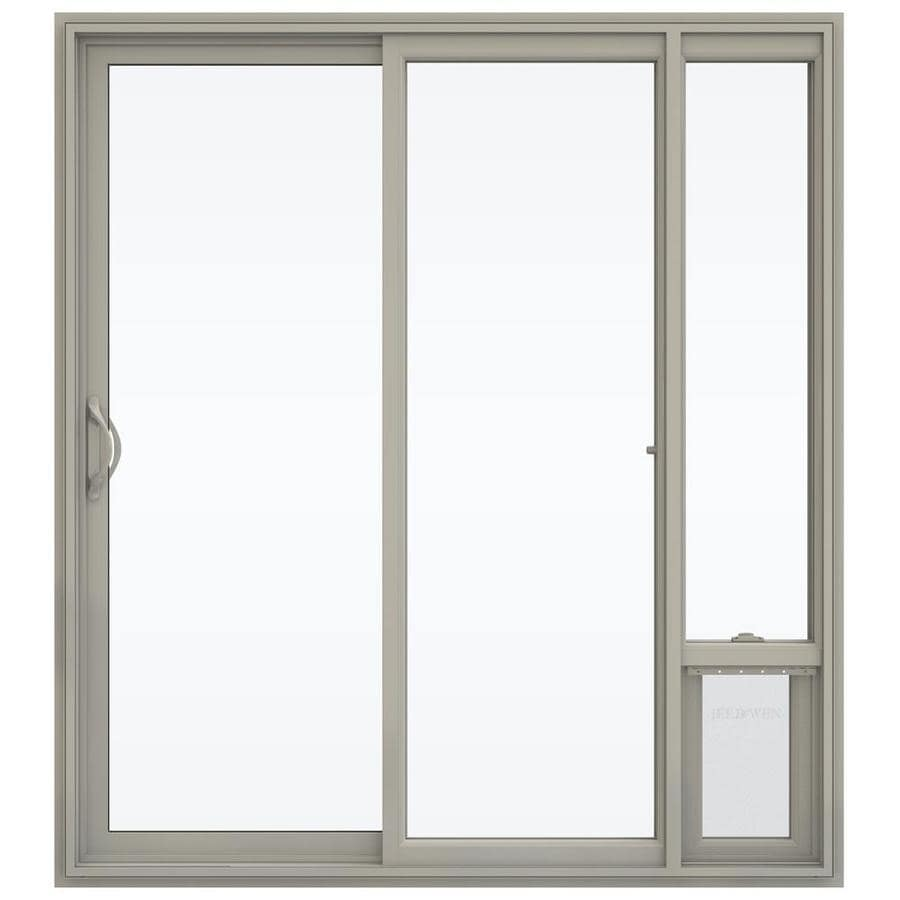 Shop Jeld Wen 71 5 In X 79 5 In Clear Glass Left Hand