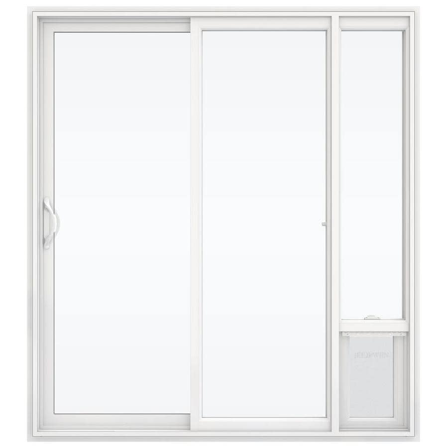 Jeld Wen Clear Glass White Vinyl Right Hand Double Door