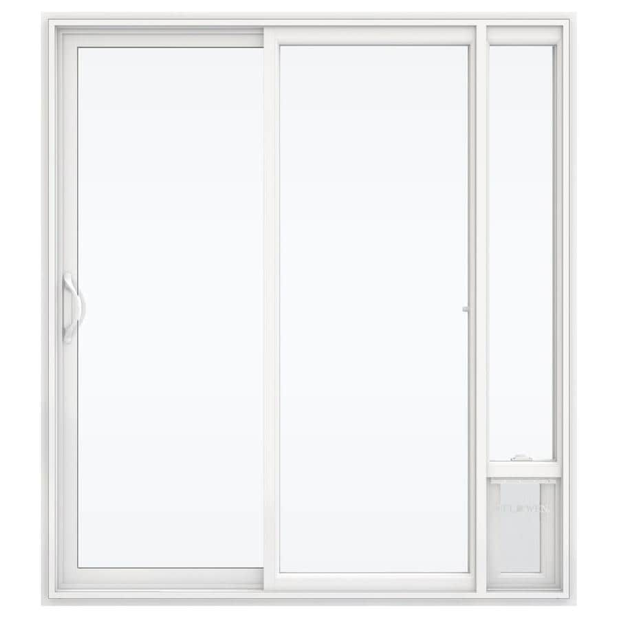 Shop jeld wen v 2500 71 5 in x 79 5 in left hand white for White sliding patio doors