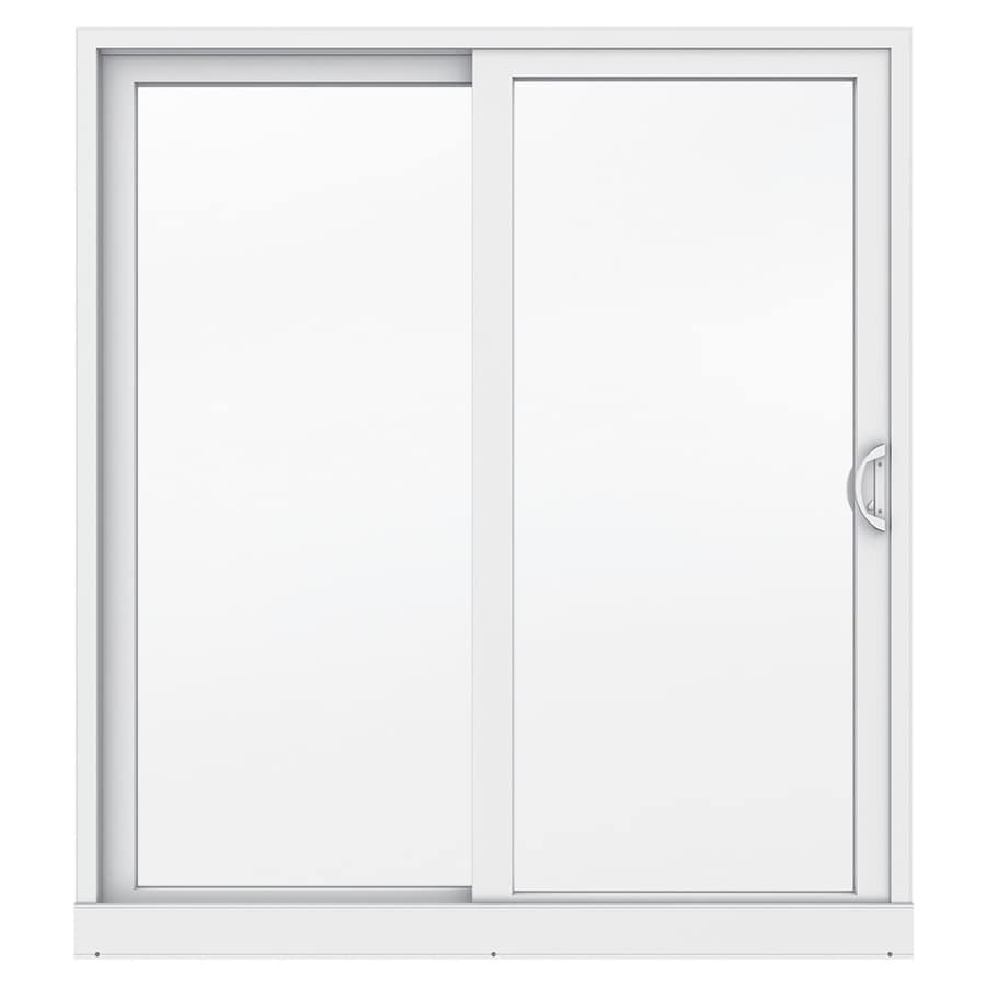 Jeld Wen 71 5 In X 79 5 In Clear Glass Right Hand White Vinyl