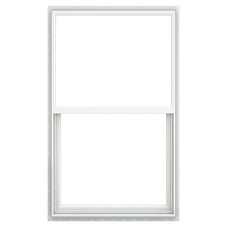 Jeld Wen Builders Vinyl New Construction White Exterior Single Hung Window Rough Opening