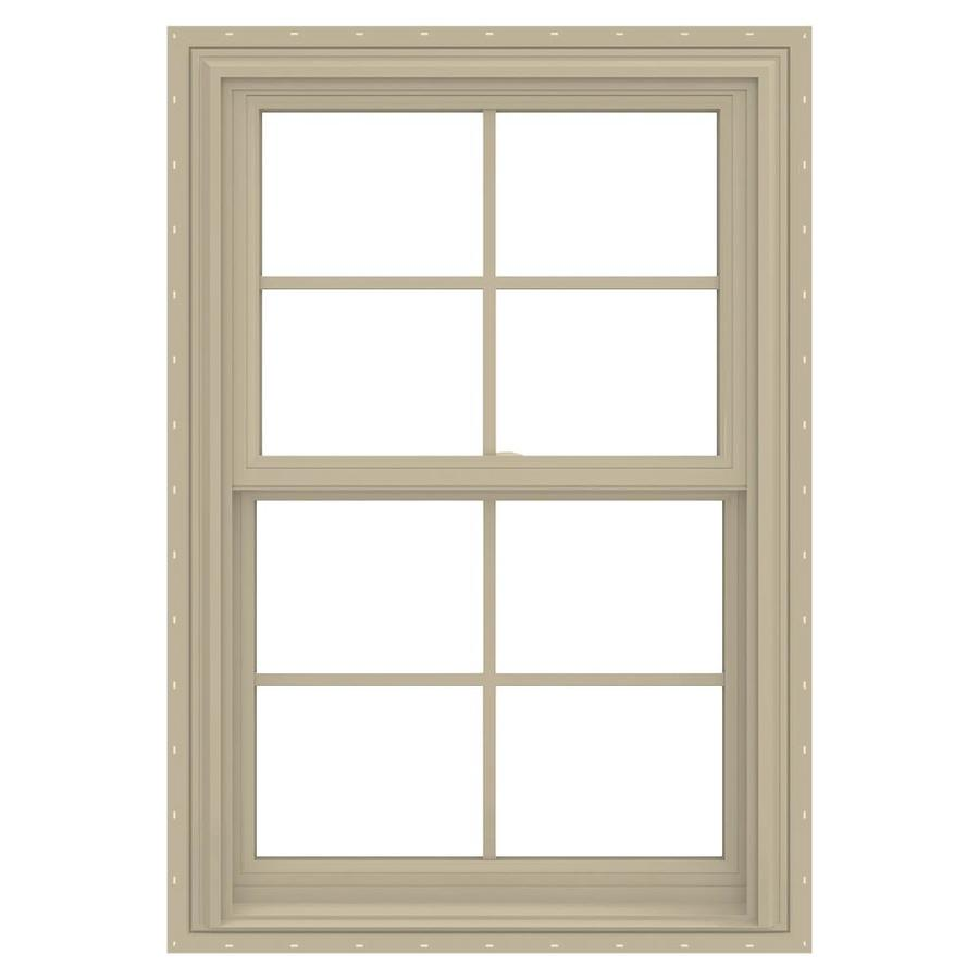 JELD-WEN V-2500 Vinyl Double Pane Annealed New Construction Double Hung Window (Rough Opening: 26-in x 36-in; Actual: 25.5-in x 35.5-in)