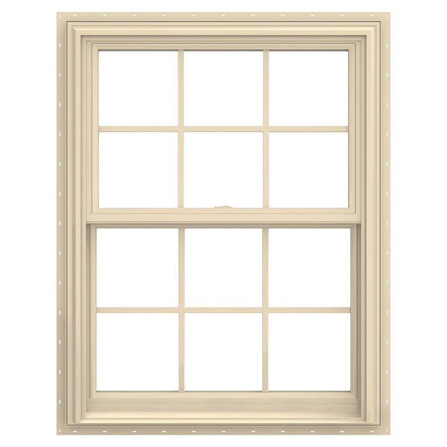 Shop jeld wen v 2500 vinyl double pane annealed new for New vinyl windows