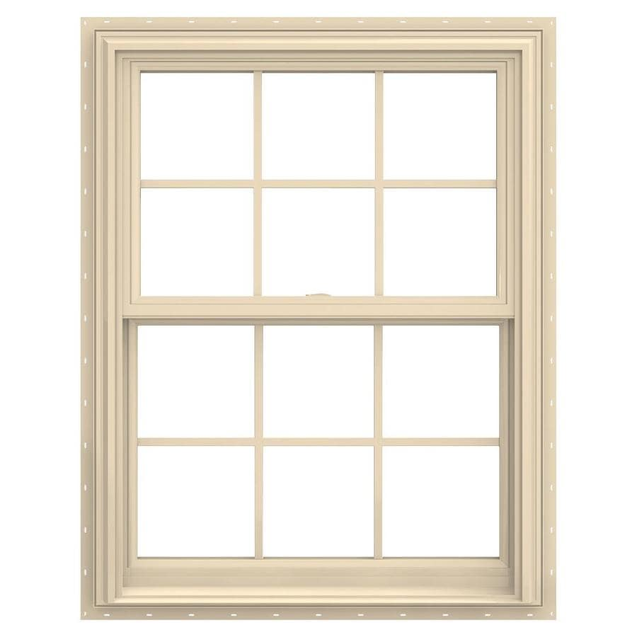 JELD-WEN V-2500 Vinyl Double Pane Annealed New Construction Double Hung Window (Rough Opening: 30-in x 41-in; Actual: 29.5-in x 40.5-in)