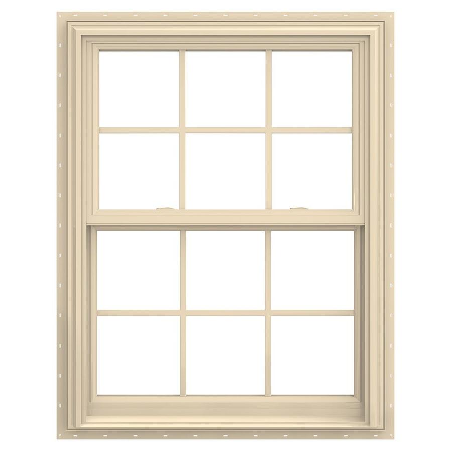JELD-WEN V-2500 Vinyl Double Pane Annealed New Construction Double Hung Window (Rough Opening: 32-in x 38-in; Actual: 31.5-in x 37.5-in)