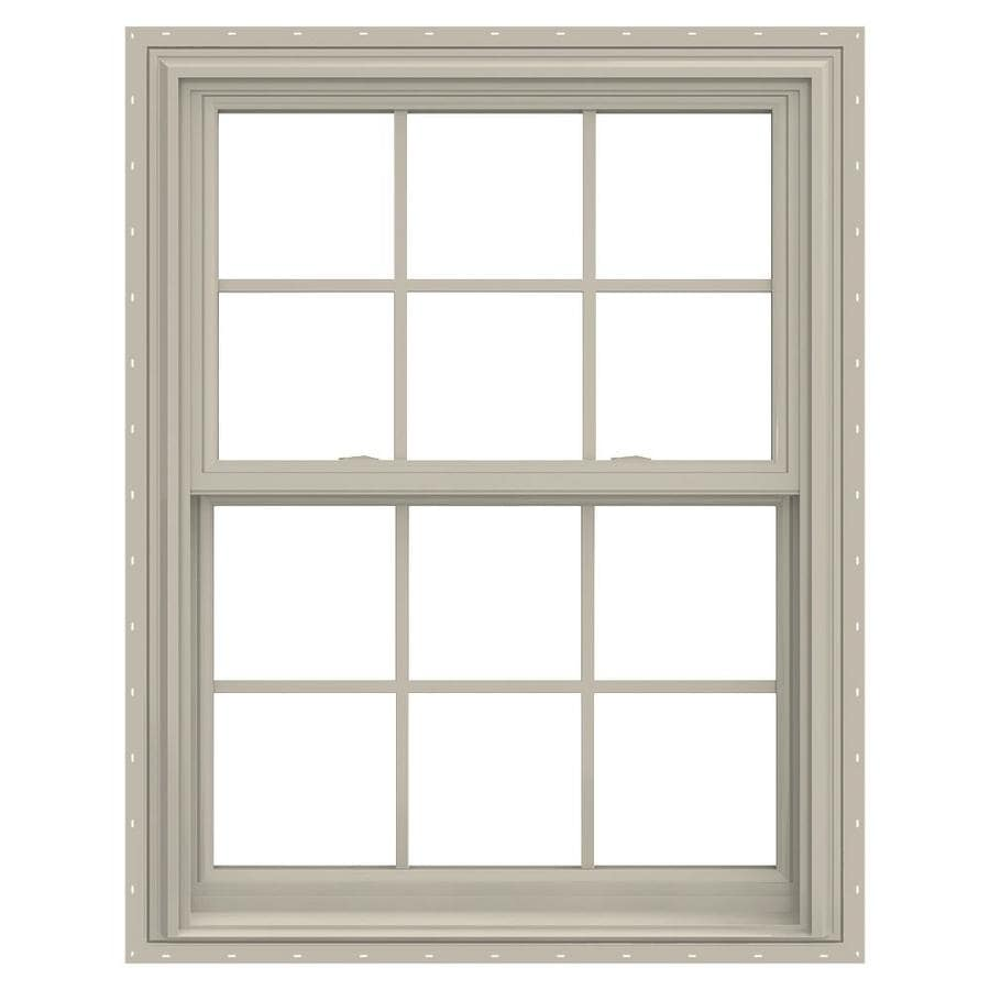 JELD-WEN V-2500 Vinyl Double Pane Annealed Double Hung Window (Rough Opening: 32-in x 38-in; Actual: 31.5-in x 37.5-in)