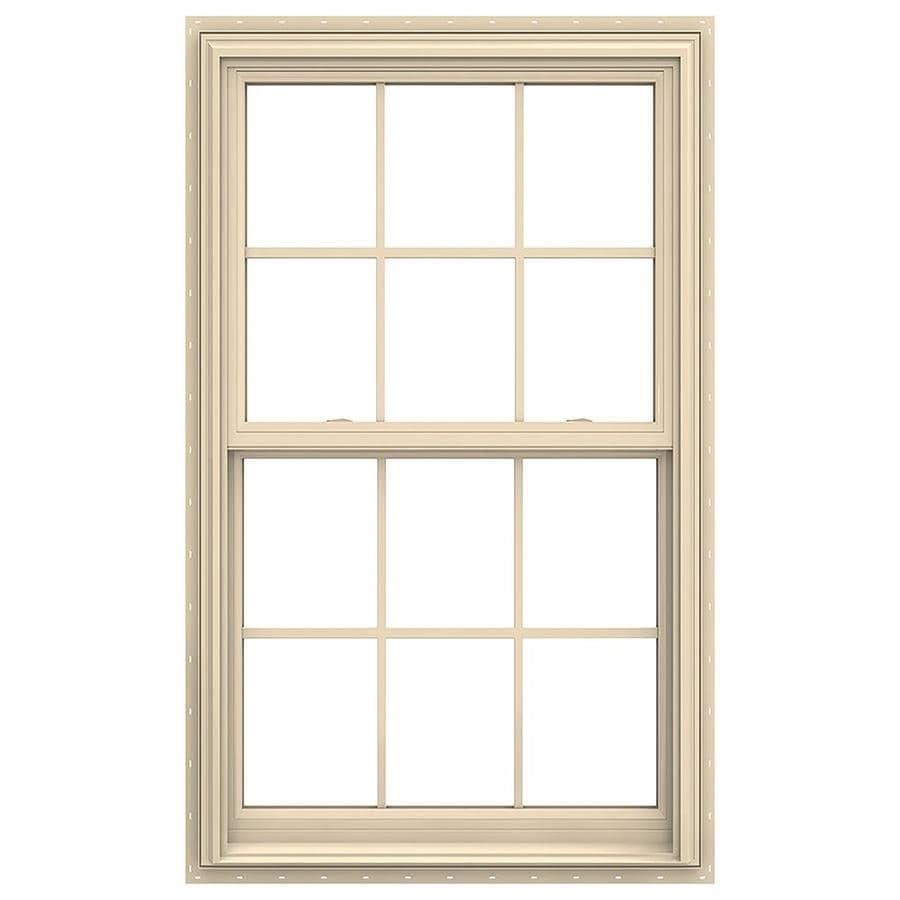 JELD-WEN V-2500 Vinyl Double Pane Annealed New Construction Double Hung Window (Rough Opening: 32-in x 54-in; Actual: 31.5-in x 53.5-in)