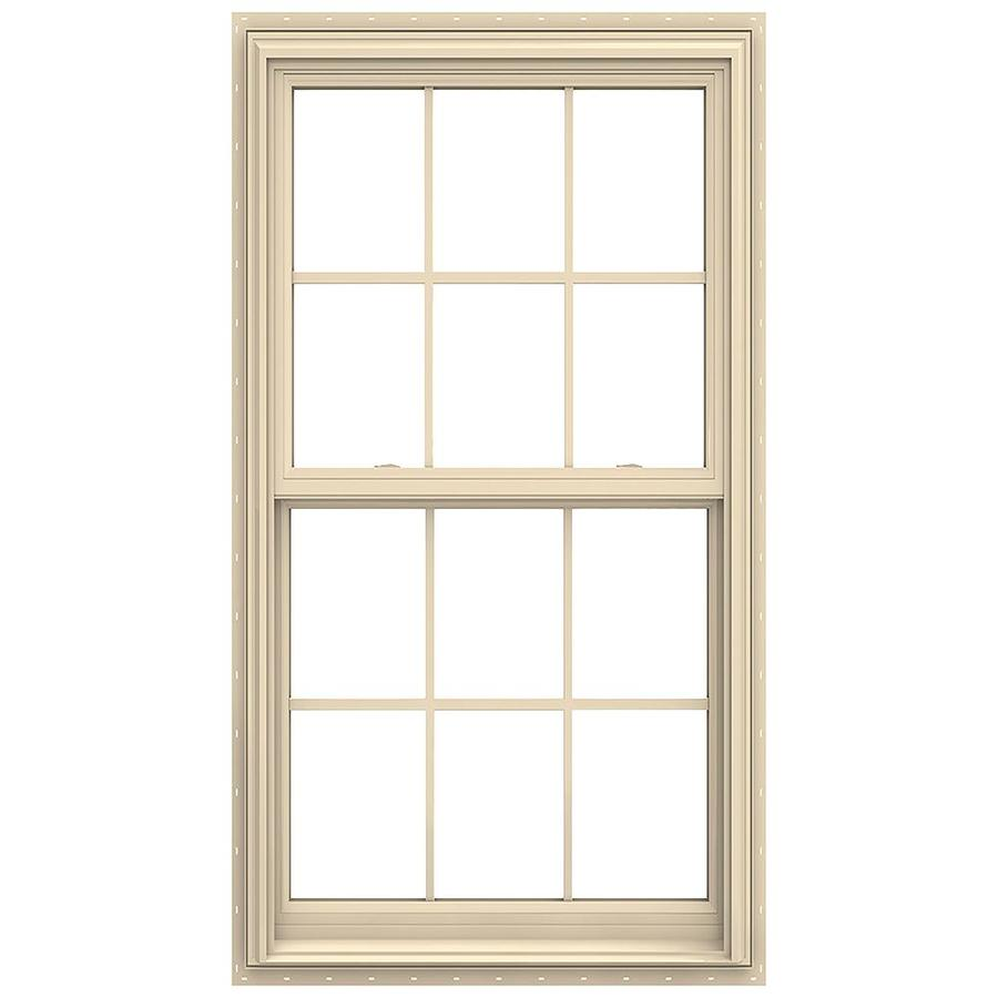 JELD-WEN V-2500 Vinyl Double Pane Annealed New Construction Double Hung Window (Rough Opening: 32-in x 62-in; Actual: 31.5-in x 61.5-in)