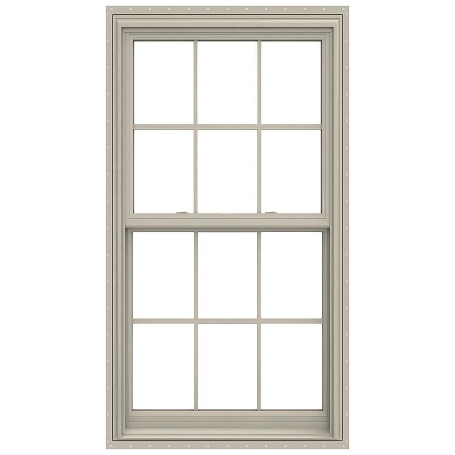 JELD-WEN V-2500 Vinyl Double Pane Annealed New Construction Double Hung Window (Rough Opening: 34-in x 65-in; Actual: 33.5-in x 64.5-in)