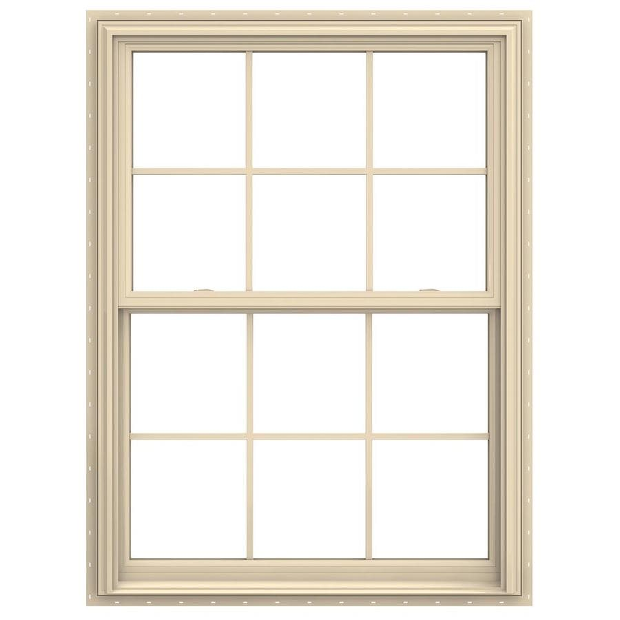JELD-WEN V-2500 Vinyl Double Pane Annealed Double Hung Window (Rough Opening: 36-in x 48-in; Actual: 35.5-in x 47.5-in)