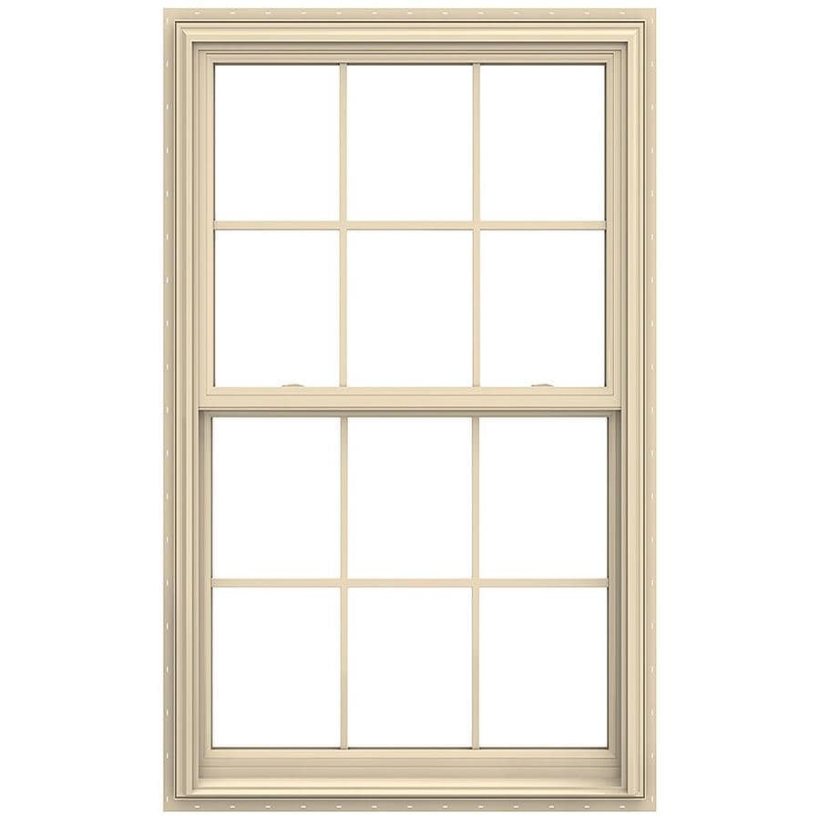JELD-WEN V-2500 Vinyl Double Pane Annealed New Construction Double Hung Window (Rough Opening: 36-in x 60-in; Actual: 35.5-in x 59.5-in)