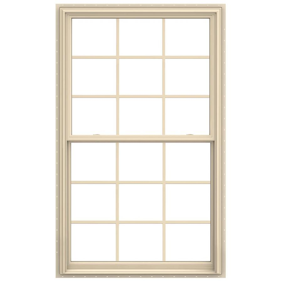 JELD-WEN V-2500 Vinyl Double Pane Annealed New Construction Double Hung Window (Rough Opening: 36-in x 72-in; Actual: 35.5-in x 71.5-in)