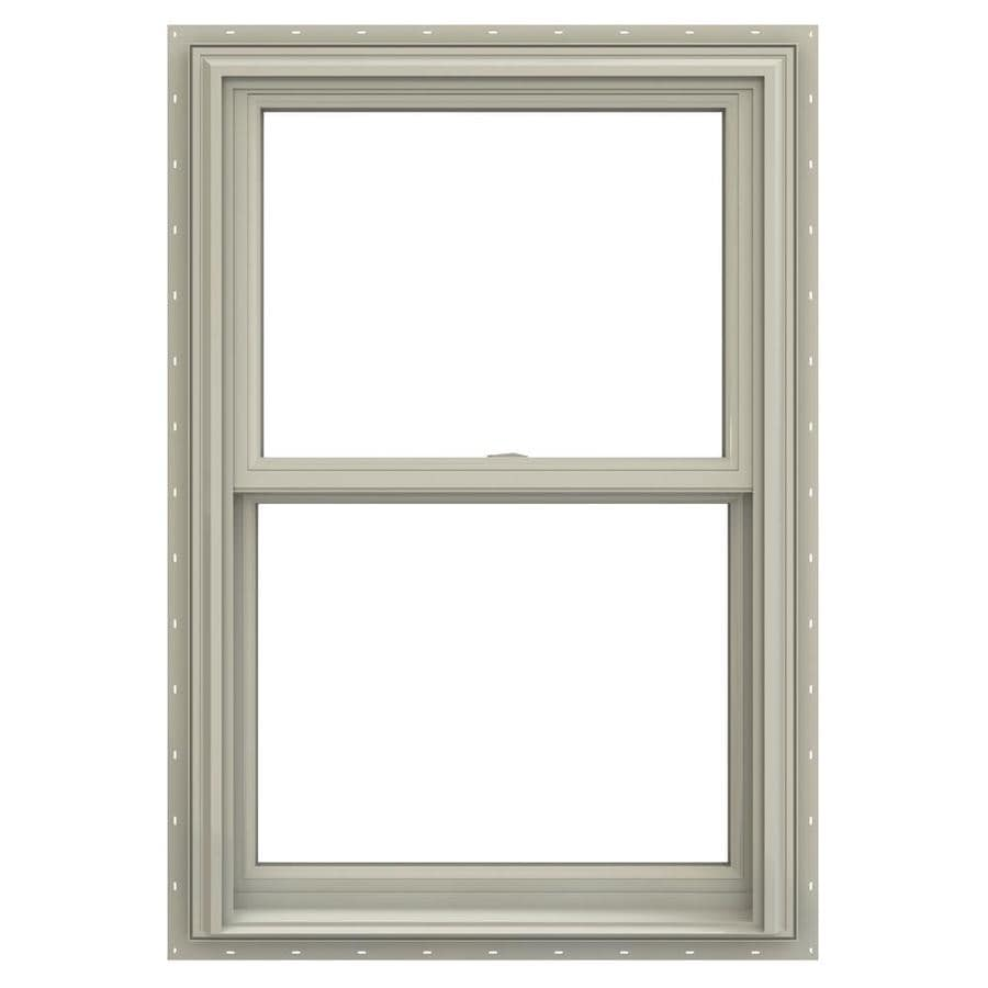 JELD-WEN V-2500 Vinyl Double Pane Annealed Double Hung Window (Rough Opening: 26-in x 36-in; Actual: 25.5-in x 35.5-in)