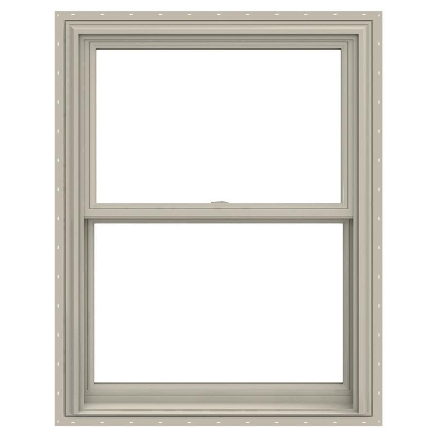 JELD-WEN V-2500 Vinyl Double Pane Annealed Double Hung Window (Rough Opening: 30-in x 41-in; Actual: 29.5-in x 40.5-in)