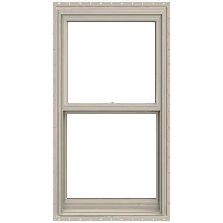 JELD-WEN V-2500 Vinyl Double Pane Annealed Double Hung Window (Rough Opening: 30-in x 54-in; Actual: 29.5-in x 53.5-in)