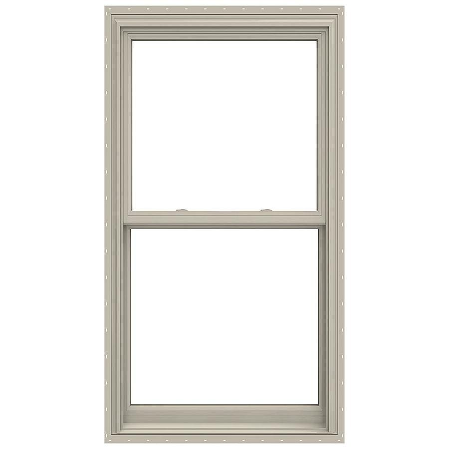 JELD-WEN V-2500 Vinyl Double Pane Annealed Double Hung Window (Rough Opening: 32-in x 62-in; Actual: 31.5-in x 61.5-in)