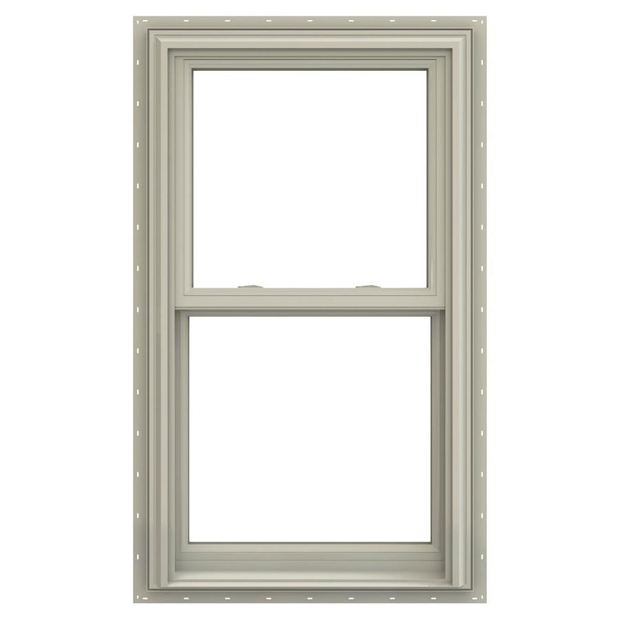 JELD-WEN V-2500 Vinyl Double Pane Annealed Double Hung Window (Rough Opening: 34-in x 65-in; Actual: 33.5-in x 64.5-in)