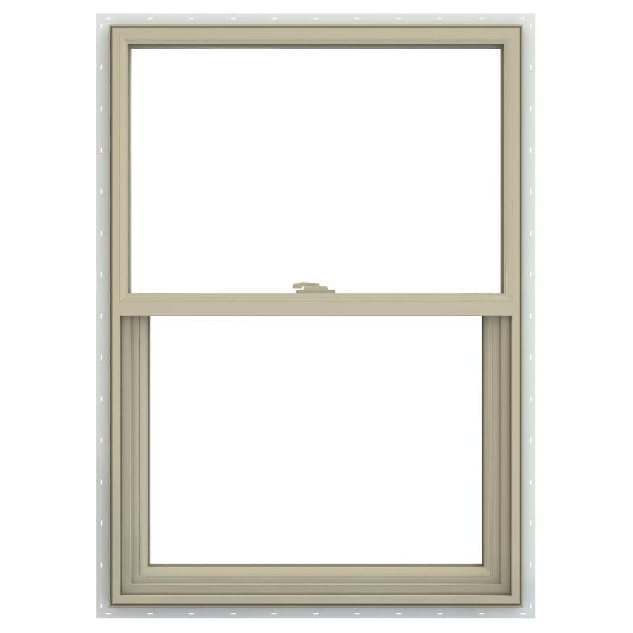 JELD-WEN V-2500 Vinyl Double Pane Annealed Single Hung Window (Rough Opening: 22-in x 33-in; Actual: 21.5-in x 32.5-in)