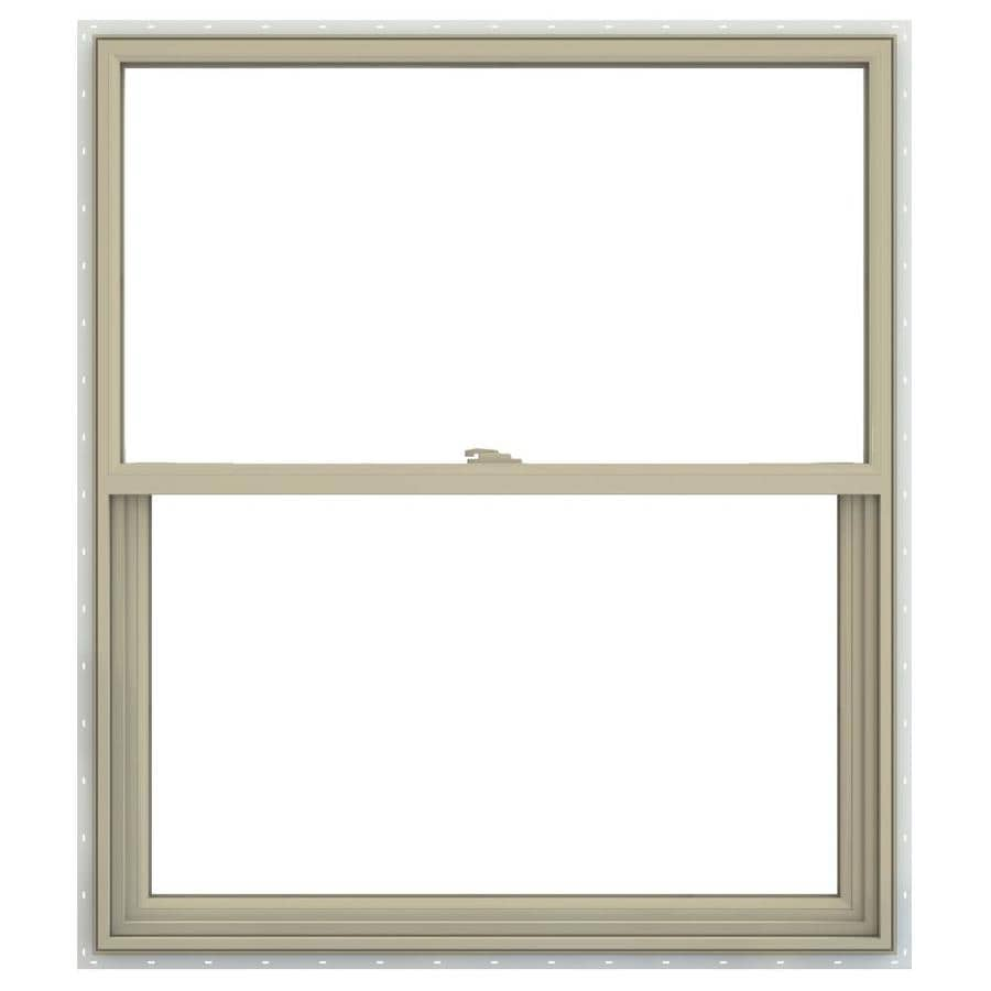 JELD-WEN V-2500 Vinyl Double Pane Annealed Single Hung Window (Rough Opening: 30-in x 41-in; Actual: 29.5-in x 40.5-in)