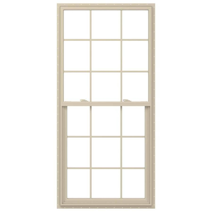 JELD-WEN V-2500 Vinyl Double Pane Annealed Single Hung Window (Rough Opening: 36-in x 72-in; Actual: 35.5-in x 71.5-in)