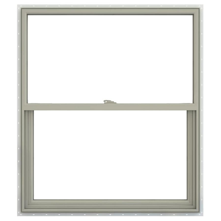JELD-WEN V-2500 Vinyl Double Pane Annealed Single Hung Window (Rough Opening: 30-in x 36-in; Actual: 29.5-in x 35.5-in)