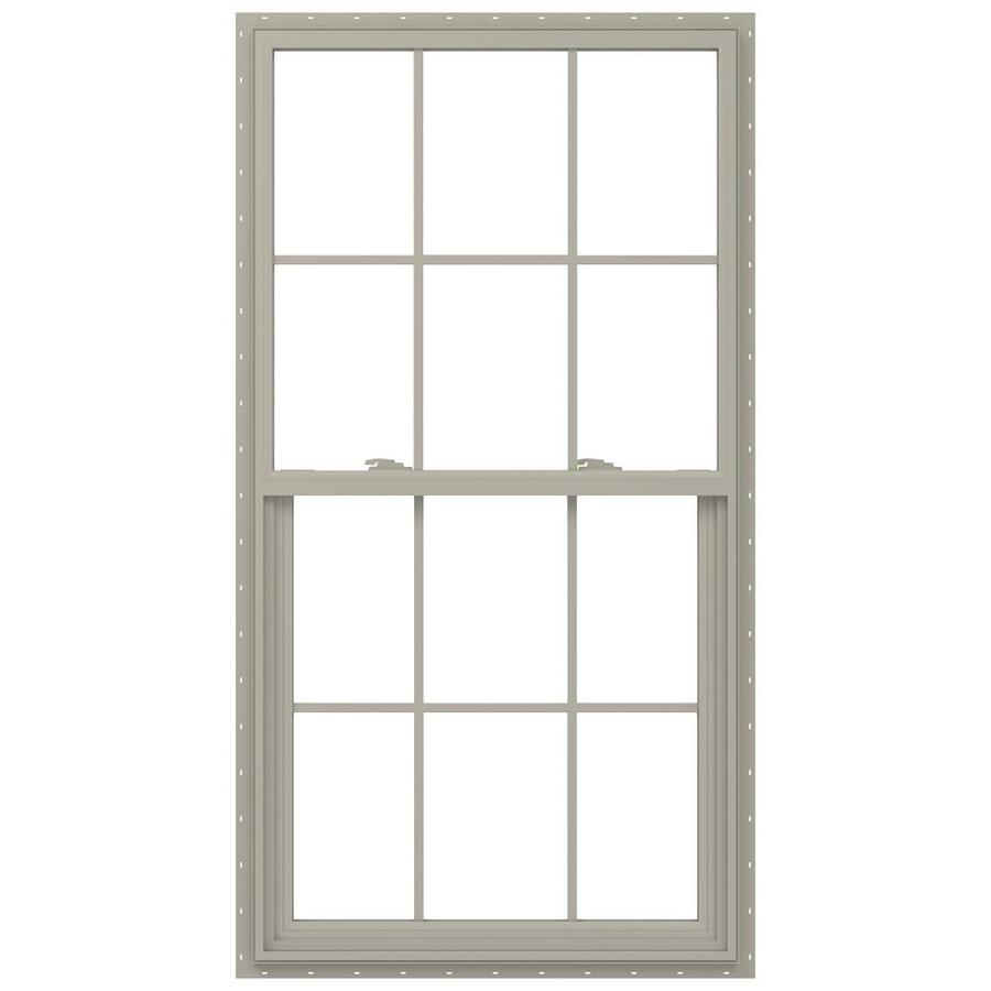 JELD-WEN V-2500 Vinyl Double Pane Annealed New Construction Single Hung Window (Rough Opening: 32-in x 60-in; Actual: 31.5-in x 59.5-in)