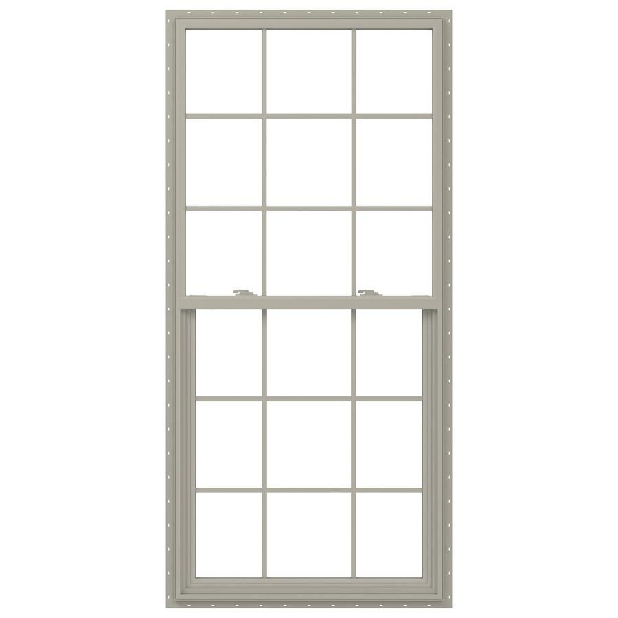 JELD-WEN V-2500 Vinyl Double Pane Annealed Single Hung Window (Rough Opening: 34-in x 77-in; Actual: 33.5-in x 76.5-in)