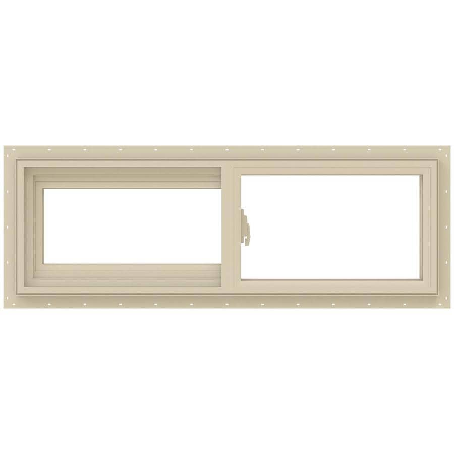 JELD-WEN V-2500 Left-Operable Vinyl Double Pane Annealed Sliding Window (Rough Opening: 36-in x 12-in; Actual: 35.5-in x 11.5-in)
