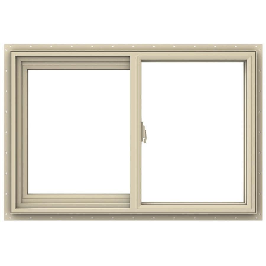 Shop jeld wen v 2500 left operable vinyl double pane for Double pane vinyl windows