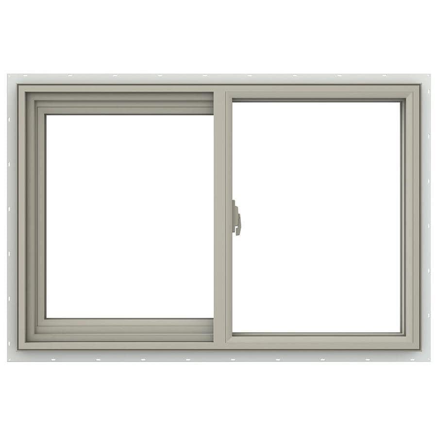 JELD-WEN V-2500 Left-Operable Vinyl Double Pane Annealed Sliding Window (Rough Opening: 36-in x 24-in; Actual: 35.5-in x 23.5-in)