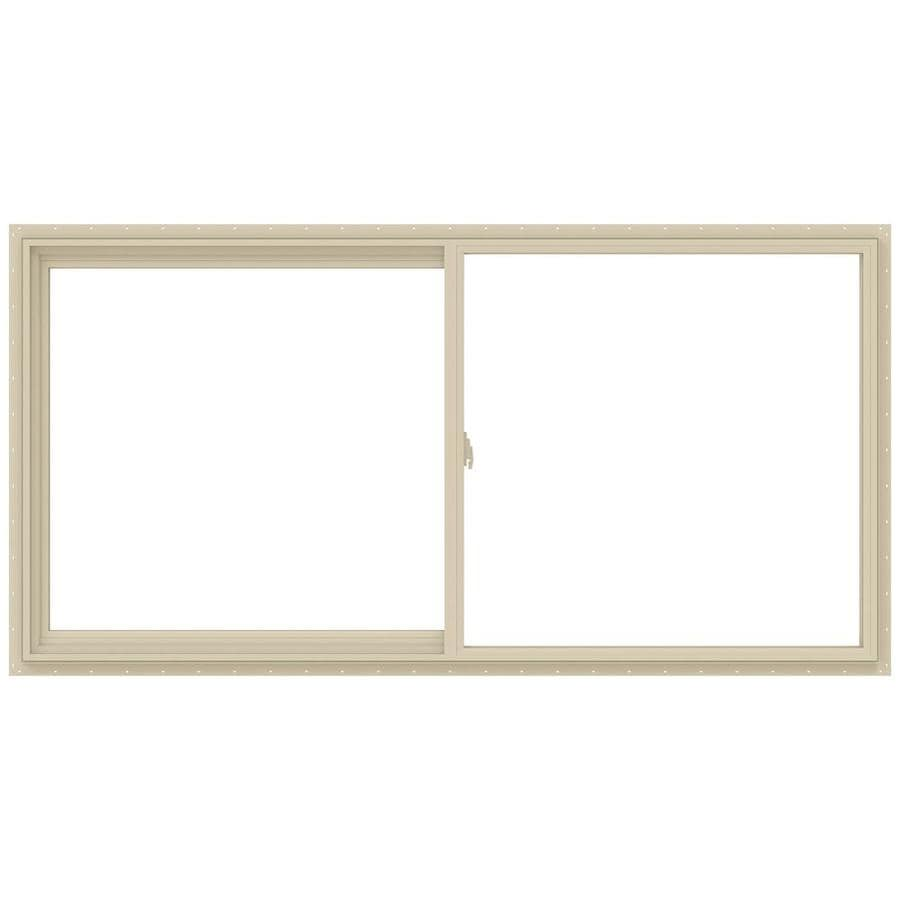 JELD-WEN V-2500 Left-Operable Vinyl Double Pane Annealed Sliding Window (Rough Opening: 72-in x 36-in; Actual: 71.5-in x 35.5-in)