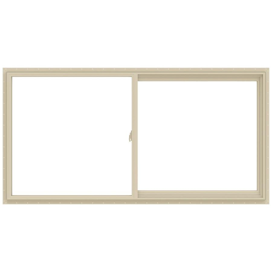 JELD-WEN V-2500 Right-Operable Vinyl Double Pane Annealed Sliding Window (Rough Opening: 48-in x 24-in; Actual: 47.5-in x 23.5-in)