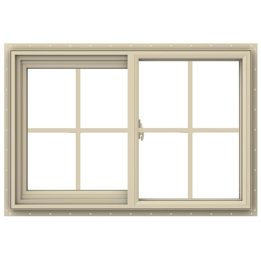 JELD-WEN V-2500 Left-operable Vinyl Double Pane Annealed New Construction Sliding Window (Rough Opening: 36-in x 24-in; Actual: 35.5-in x 23.5-in)