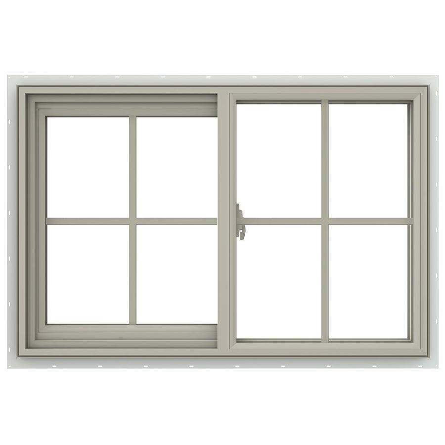 Double Sliding Windows : Shop jeld wen v left operable vinyl double pane