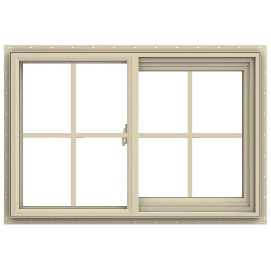 JELD-WEN V-2500 Right-operable Vinyl Double Pane Annealed New Construction Sliding Window (Rough Opening: 36-in x 24-in; Actual: 35.5-in x 23.5-in)