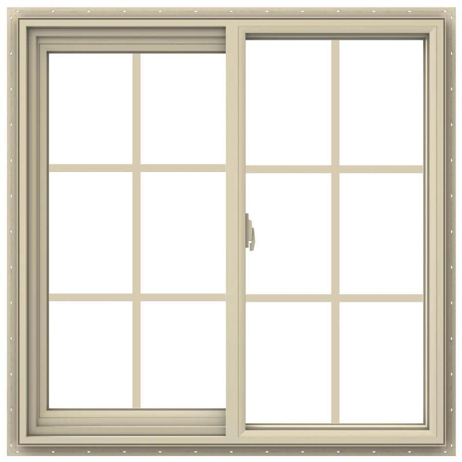 JELD-WEN V-2500 Left-operable Vinyl Double Pane Annealed New Construction Sliding Window (Rough Opening: 36-in x 36-in; Actual: 35.5-in x 35.5-in)
