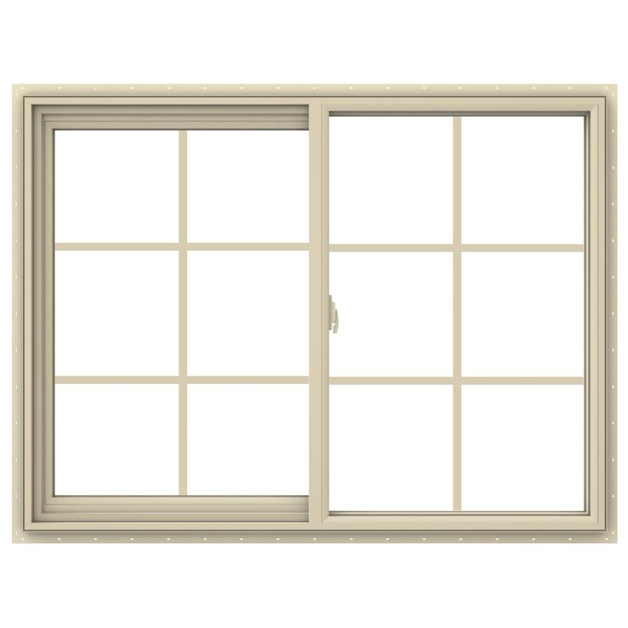 JELD-WEN V-2500 Left-Operable Vinyl Double Pane Annealed Sliding Window (Rough Opening: 48-in x 36-in; Actual: 47.5-in x 35.5-in)