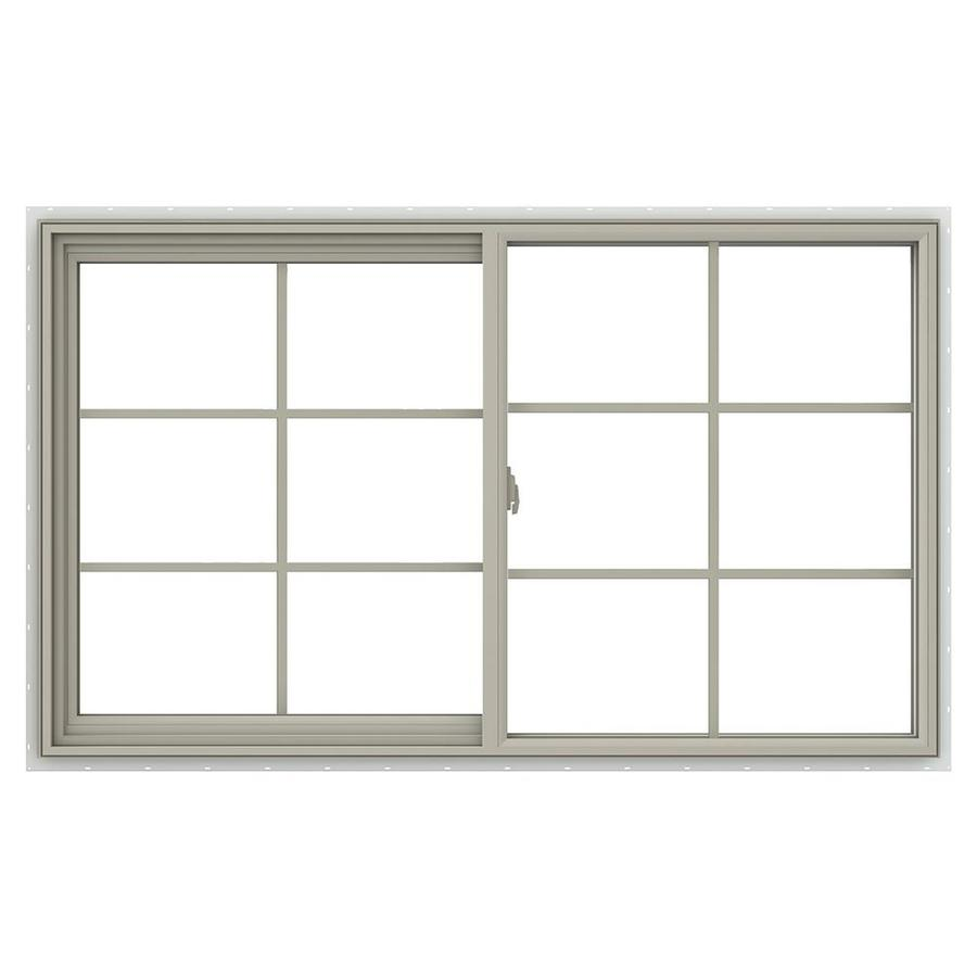 JELD-WEN V-2500 Left-operable Vinyl Double Pane Annealed New Construction Sliding Window (Rough Opening: 60-in x 36-in; Actual: 59.5-in x 35.5-in)