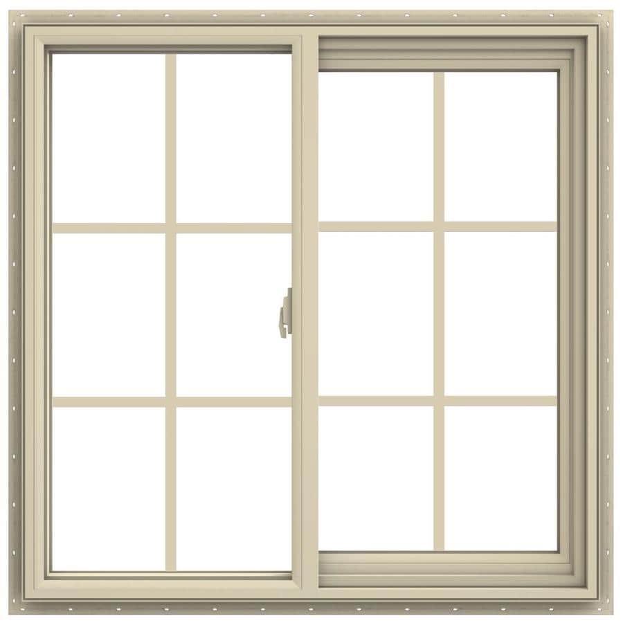 JELD-WEN V-2500 Right-operable Vinyl Double Pane Annealed New Construction Sliding Window (Rough Opening: 36-in x 36-in; Actual: 35.5-in x 35.5-in)