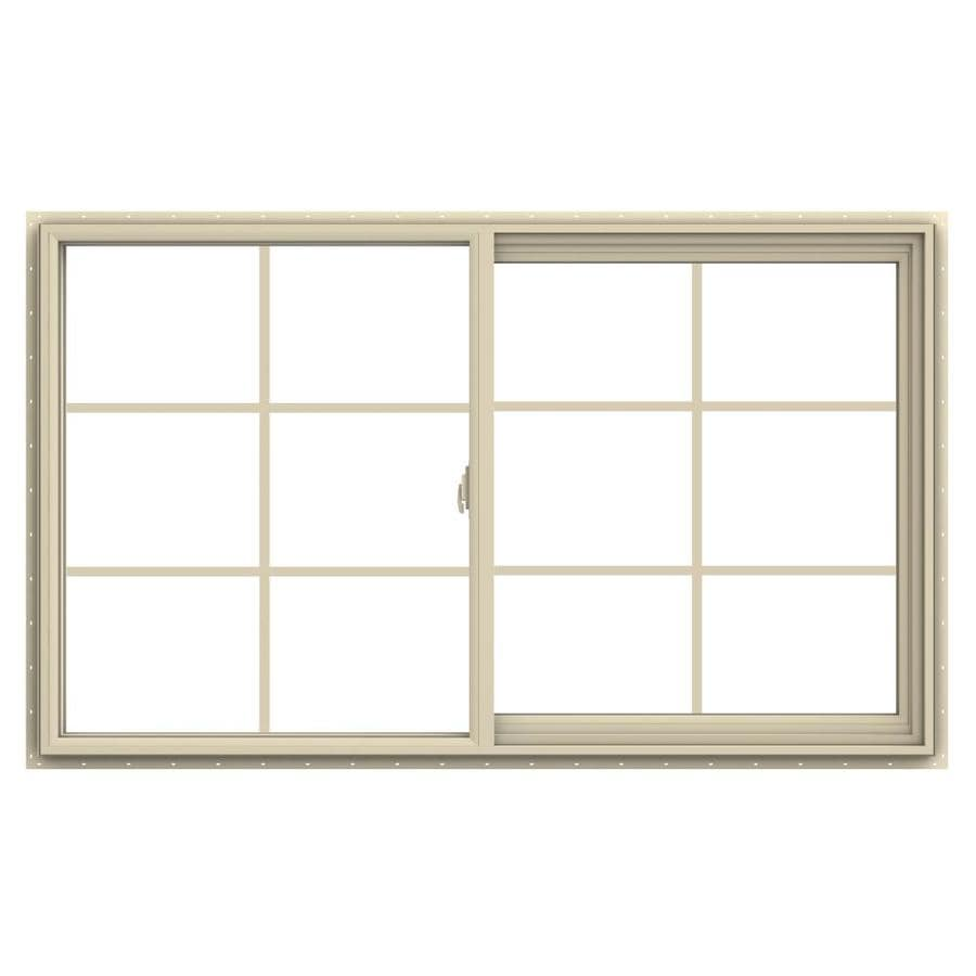 JELD-WEN V-2500 Right-operable Vinyl Double Pane Annealed New Construction Sliding Window (Rough Opening: 60-in x 36-in; Actual: 59.5-in x 35.5-in)