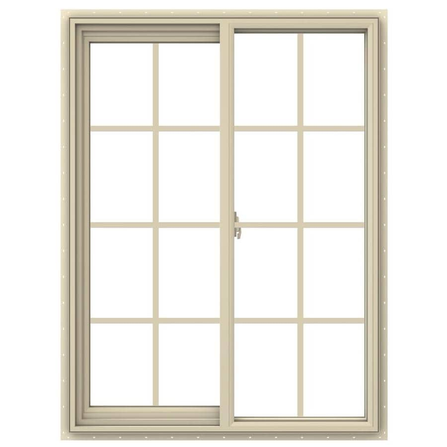 JELD-WEN V-2500 Left-operable Vinyl Double Pane Annealed New Construction Sliding Window (Rough Opening: 36-in x 48-in; Actual: 35.5-in x 47.5-in)