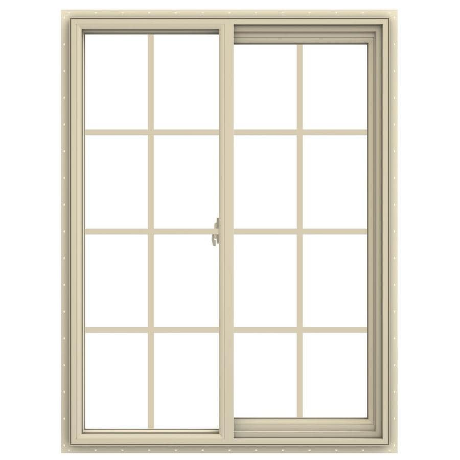 JELD-WEN V-2500 Right-operable Vinyl Double Pane Annealed New Construction Sliding Window (Rough Opening: 36-in x 48-in; Actual: 35.5-in x 47.5-in)